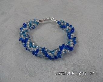 shades of blue bracelet