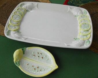 Fish platter with lemon peel