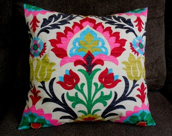 Pillow cover decorative throw pillow floral pillow case couch pillow home decor 4 colors gorgeous fabric