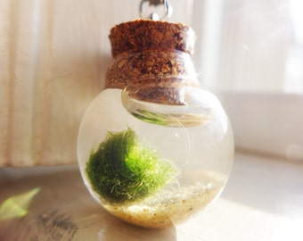 Marimo Moss Ball Necklace
