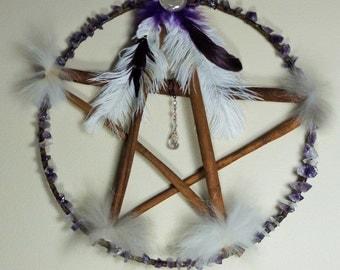 Purple Protection Cinnamon Stick Pentacle