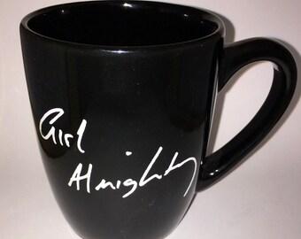 "one direction ""girl almighty"" louis tomlinson handwriting mug"