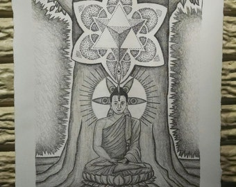 Meditation- Stone Lithograph Print Limited Edition