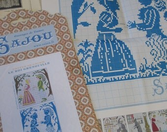 Sajou Grimm's Fairy Tales Embroidery Chart- The Frog Prince