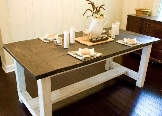 Custom Farmhouse Dining Table Rustic Dining by WoodSmithDesignCo