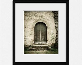 Door photography, old wooden door, rustic home decor, beige wall art, cream home decor, french wall art, architecture print, door prints