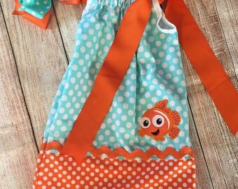 Nemo pillowcase dress, Pillow case dress, Disney Pillowcase Dress
