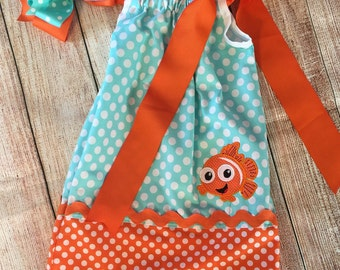 Nemo pillowcase dress, Pillow case dress
