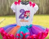 Guppies Fish Bubbles Birthday Tutu Outfit Custom Mermaid Personalized Applique
