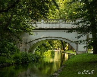 Brandywine Park Bridge Wilmington Delaware Photo Print Artwork Nature Bridge Light Photograph Sunlight