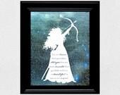 Disney Princess Silhouette - Brave Quote / Merida Silhouette - Printable 8x10 Wall Art / Decor - Lyric Silhouette - Instant Download