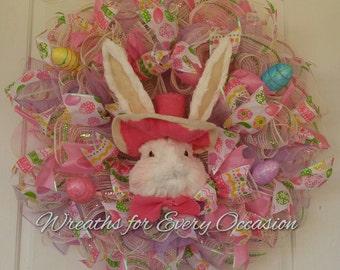 Ruffle Bunny Wreath