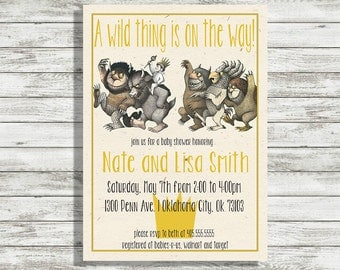 Wild Thing Baby Shower Invitation