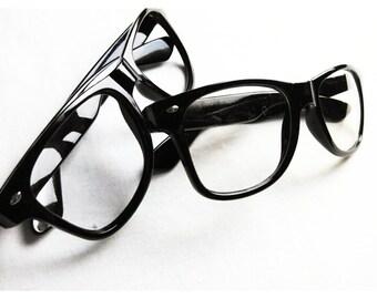 No Lens or Lens Fashion Nerd Glasses (gender neutral)