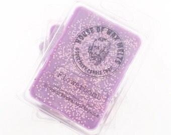 Wax Melts, Wax Tarts, Candle - Flowerbomb Scented - Purple, Glitter