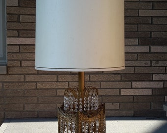 Mid Century Hollywood Regency Prism Table Lamp