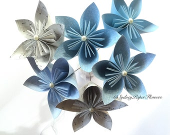 Paper flowers bouquet/ Kusudama / Wedding flowers /Bridal bouquete / Anniversary gift / Mothers Day / Birthday / Get well