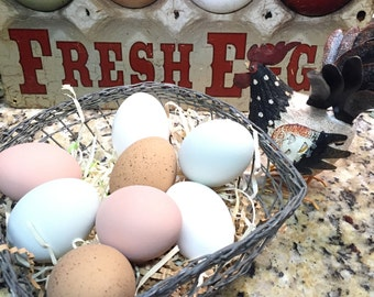 1 Dozen Mixed Chicken Eggs