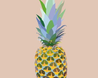 Pineapple, Digital Art Print