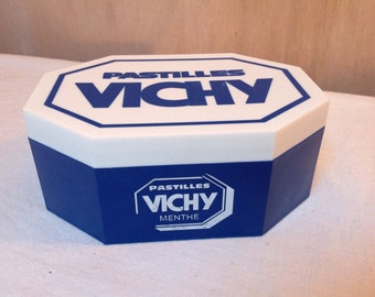 Vintage French Box Vichy Pastilles – Sweet box – Octagonal French Box