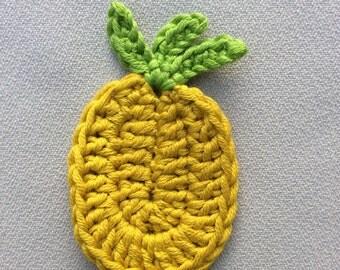Lot of 5 applied pineapple handmade crochet
