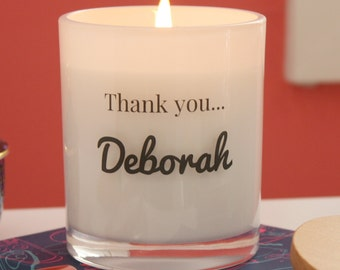 Personalised Thank You Soy Candle- LARGE