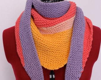"Shawl ""Summer rainbow"""
