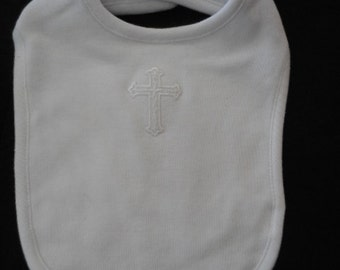 Bib Baptism Christening - Assorted Crosses