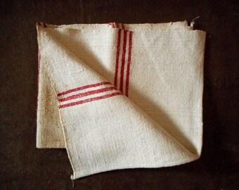 Antique Hand Woven Homespun Linen Towel
