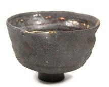 chawan noir black Kintsugi tea ceremony thé cerémonie japon bol bowl gold