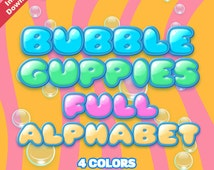 Popular Items For Bubble Letter On Etsy