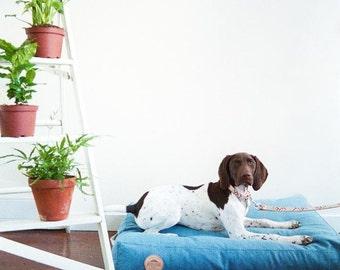 LIGHT DENIM Pet bed  100% Cotton Denim   Handmade   Handsome Mountain Pet Supplies  
