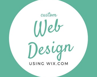 Custom Web Design using Wix.com