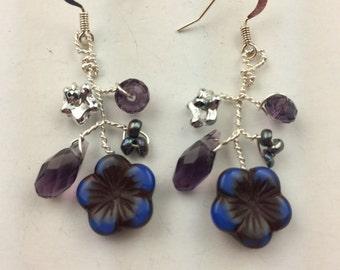 Wire twisted earrings