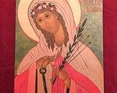 ST PHILOMENA, Icon, Catholic, Byzantine, Religious gift, Saints, Adolescent saint