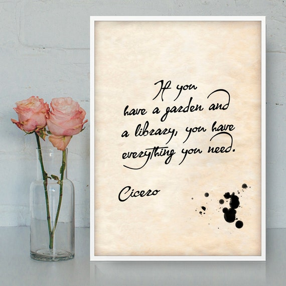Cicero Friendship Quotes Latin : Cicero quotes printable wall art gratitude latin