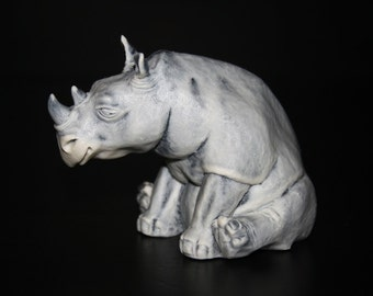 Figurine rhinoceros, statuette of the marble chips