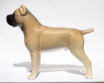 Fawn Cane Corso dog ceramic figurine handmade statue, statuette