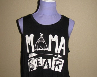 Mama Bear-Womens Plus Size Tank Top-Black