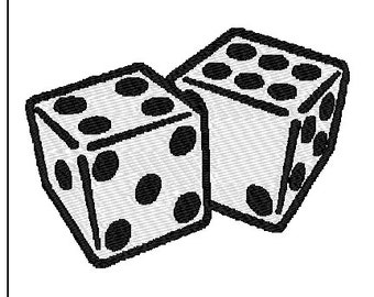 Dice Embroidery Design