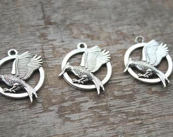 7pcs--catching fire Charms, Antique Tibetan Silver catching fire charm pendants 25mm D1117