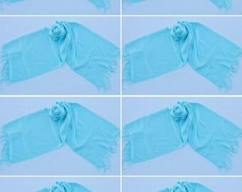 8 TURQUOISE PASHMINA,pashmina scarf,pashmina shawl,bridesmaid shawls,Pashmina Wedding,scarf, shawl, scarves 016