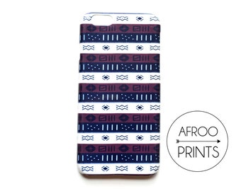 AFROOPRINTS. Bogolan XIII African printed iPhone case