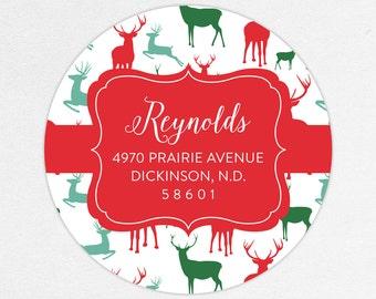 24 HOUR DIGTIAL FILE, Holiday Return Address Label, Christmas Return Address Label, Holiday Address Stickers, Christmas Address Stickers