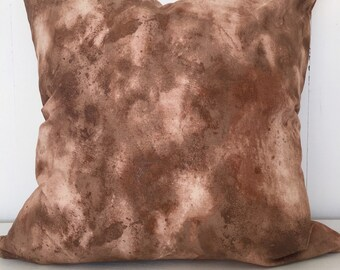 Marbled copper cushion cover