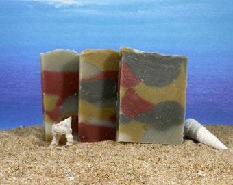 Clay Soap / Mini Soap, Essential Oil Soap, Mens Soap, Exfoliating Soap, Natural Soap, Face, Cold Process Soap, Favor Soap, Rose Clay Soap