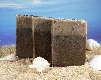 Coffee Soap  / Pumice Soap, Exfoliating, Paraben Free, Chocolate Soap, Coffee Lover Gift, Guest Soap, Party Favors, Mini Soap