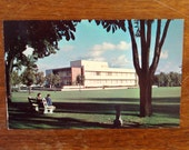 Vintage Postcard, UNUSED, The Crosby Library, Gonzaga University campus