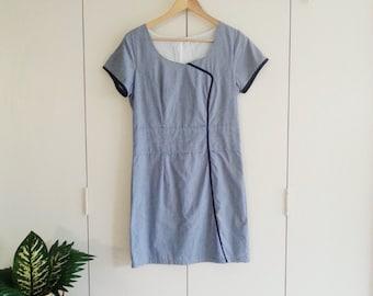SALE Vintage Dress - Blue Dress - Summer Dress - Retro Dress