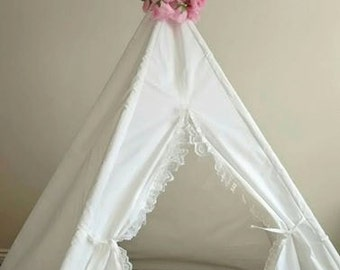 Kids Teepee Play Tent Tipi Wigwam Children